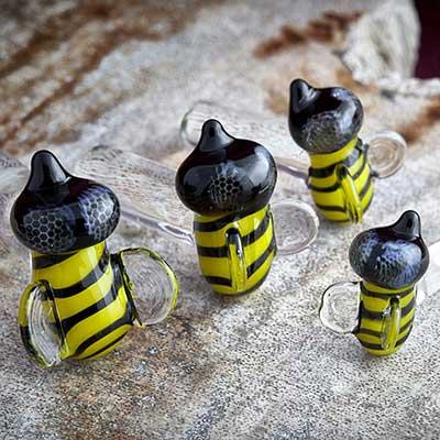 Pyrex Glass Bee Plugs