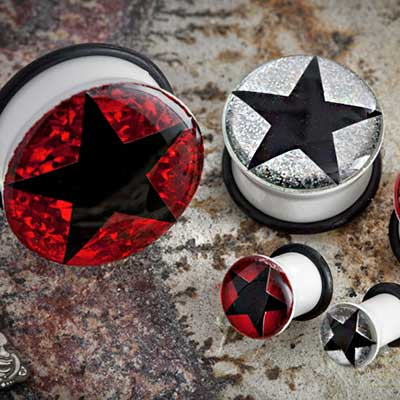 Single Flare Shimmer Star Plug