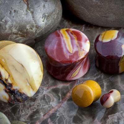 Mookaite stone plugs