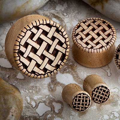 Apricot Wood Pie Plugs