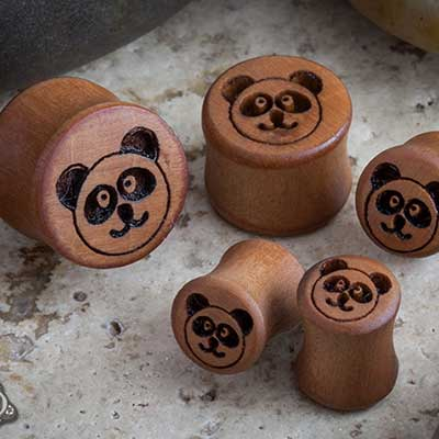 Pear Wood Panda Plugs