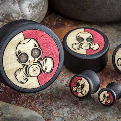 Gaboon Ebony Gas Mask Plugs