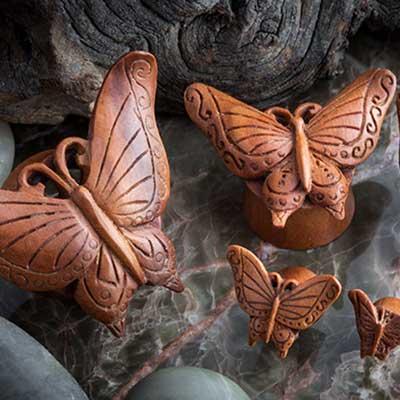 Sabo Wood Autumn Butterfly Eyelets