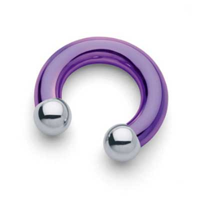 PRE-ORDER Titanium Circular Barbell - Internally Threaded