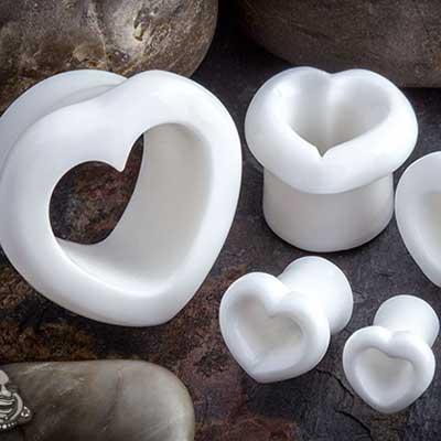 Acrylic Heart Eyelets