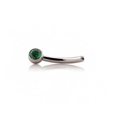 PRE-ORDER Titanium Threadless Side-Gem Curved Barbell Post Only