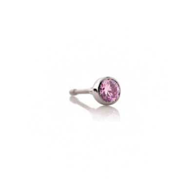 PRE-ORDER Titanium Threadless Bezel-Set Faceted Gem End