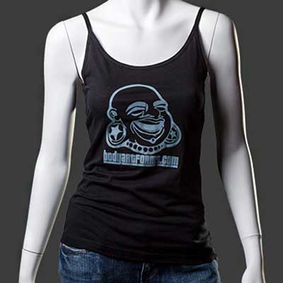 BAF Girl Tank Top (Grey On Black)