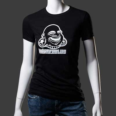 Baf Girl Tee (White On Black)