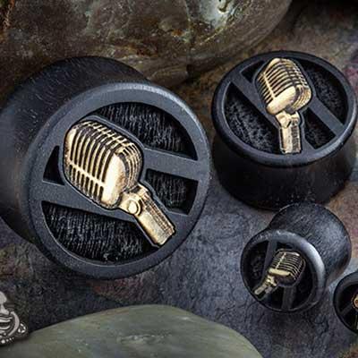 Gaboon Ebony Microphone Plugs