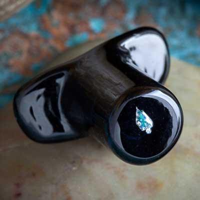 PRE-ORDER Pyrex Glass Raw Opal Labret