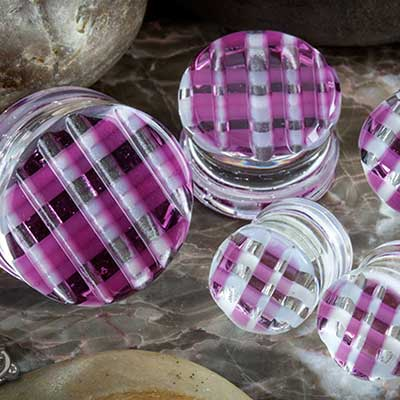 Retro Plaid Plugs