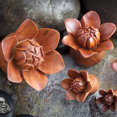 Sabo Wood Bali Bloom Plugs