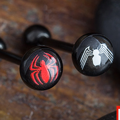 Black-Coat Spider-Man Barbell