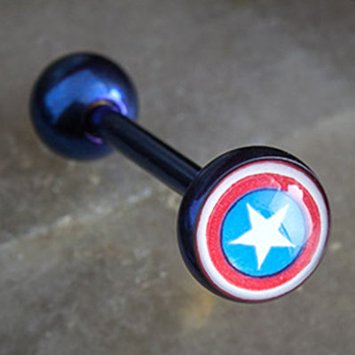 Color-Coated Captain America Barbell
