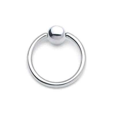 PRE-ORDER Steel Fixed Bead Ring