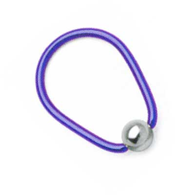 PRE-ORDER Niobium oval ring with steel bead