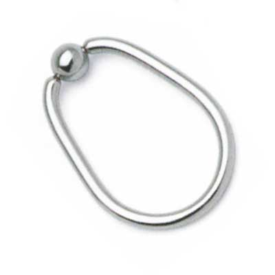 PRE-ORDER Steel oval ring