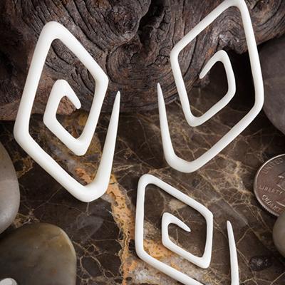 Bone diamond spirals