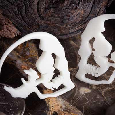Bone Skull Silhouette Design