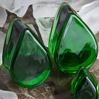 Pyrex Solid Color Teardrop Plugs (Green)