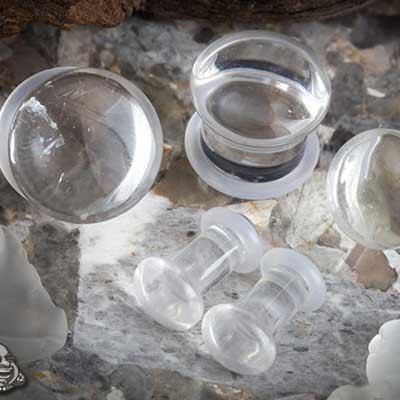Single flare quartz plugs