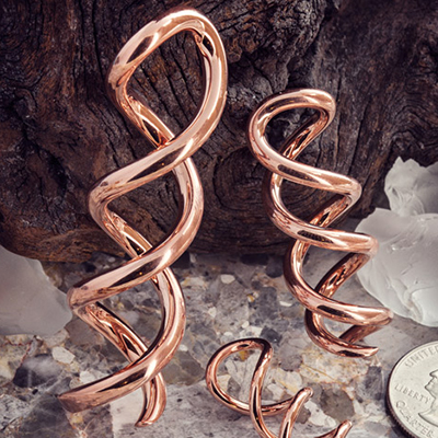 Solid Copper Caduceus