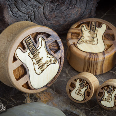 Olivewood Guitar Plugs