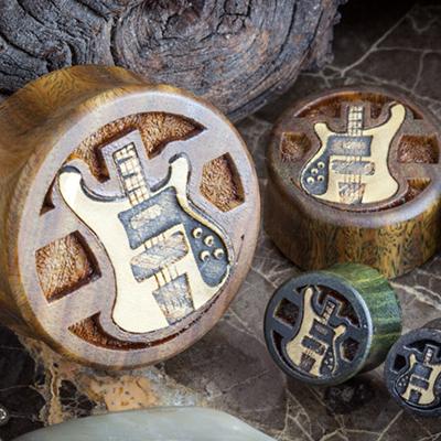 Lignum Vitae Bass Guitar Plugs