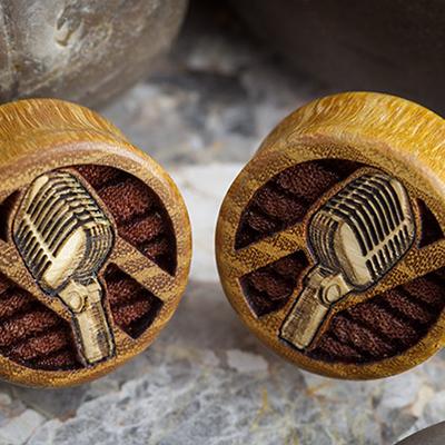 Osage Orange Microphone  Plugs