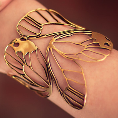Brass Butterfly Wing cuff