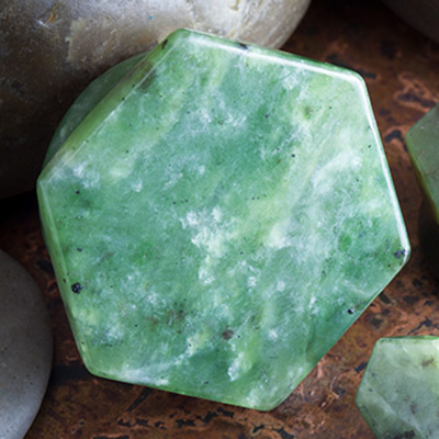 Nephrite Jade Hexagon Plugs