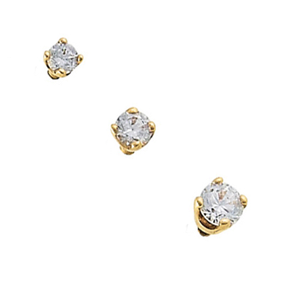 PRE-ORDER 14k gold prong set threaded end