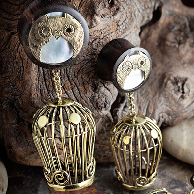 Arang Wood Birdcage Hanging Plugs