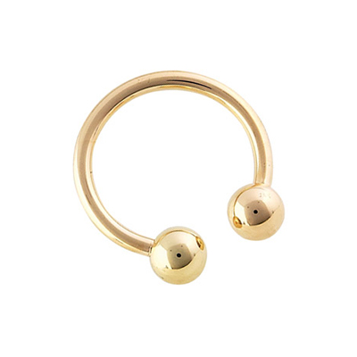 PRE-ORDER 14k Yellow Gold Circular Barbell
