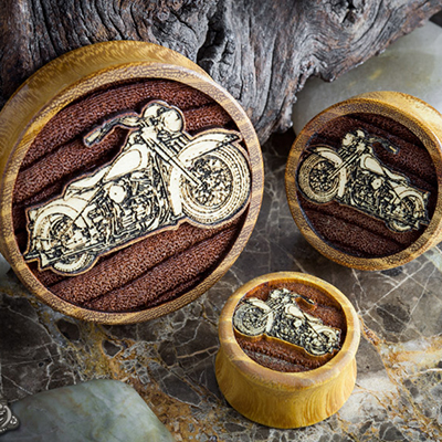Osage Orange Motorcycle Plugs