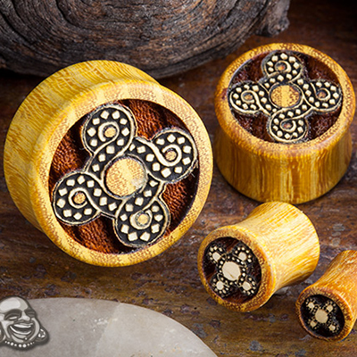 Osage Orange Celtic Knot Plugs