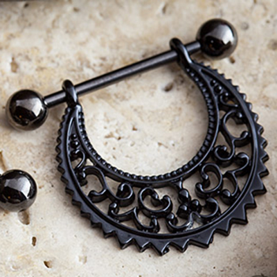 Black-Coat Filigree Nipple Stirrup