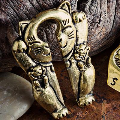 Solid Brass Maneki Neko Weights