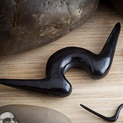 Blemished Black Horn Septum Mustache (Dali)