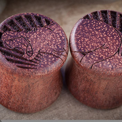 Double Sided Bloodwood Plugs