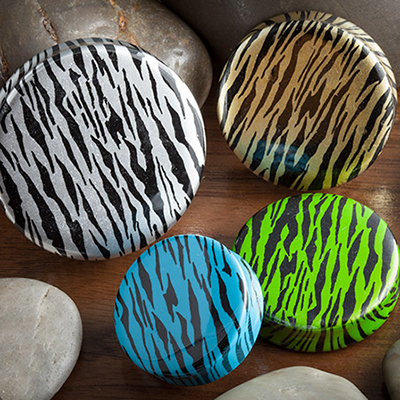 Acrylic Zebra Print Plug