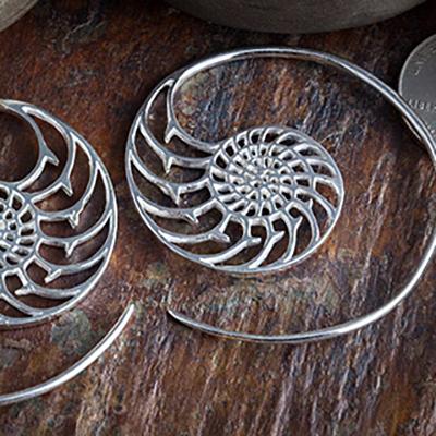 Silver plated nautilus design