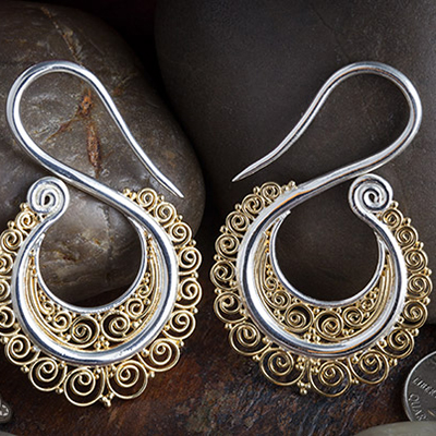 Silver Plated and 18k Gold Plated Intricate Swans