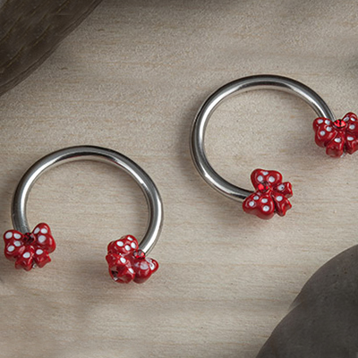 Circular Barbell with Red Bows