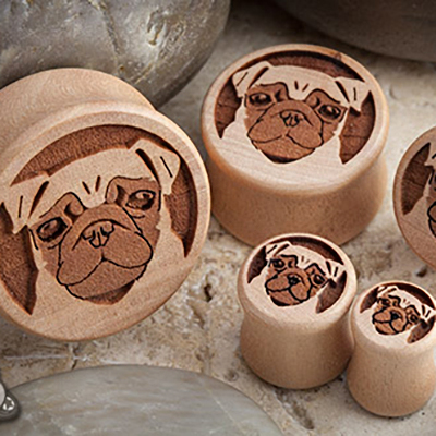 Pear Wood Pug Plugs