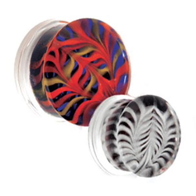 PRE-ORDER Glass Feather Double Flare Plug
