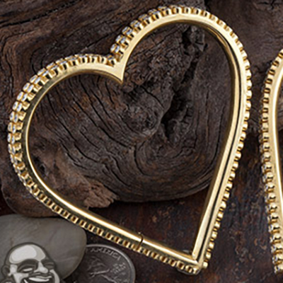 22K gold plated Diva Hearts