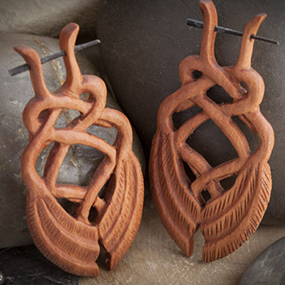 Sabo wood viking swan stirrups