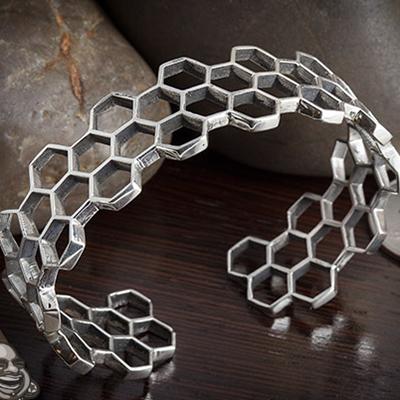 Sterling silver Beehave bracelet